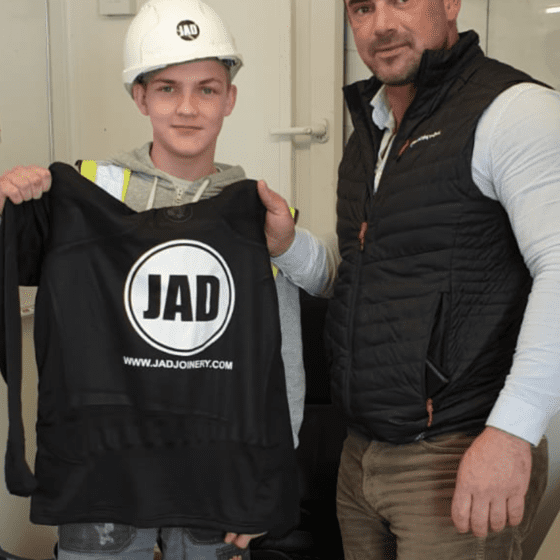 JAD Joinery Ltd Apprentice of the month for July Callum Pryde