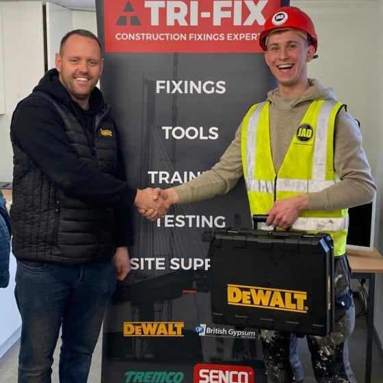 JAD Joinery Alexey Dubitskiy winning the January 2020 Apprentice of the Month