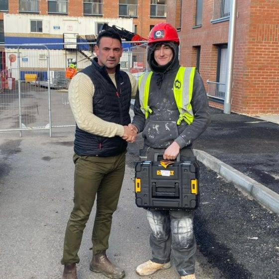 JAD Joinery Fits Outs apprentice of the month Cameron McDonald